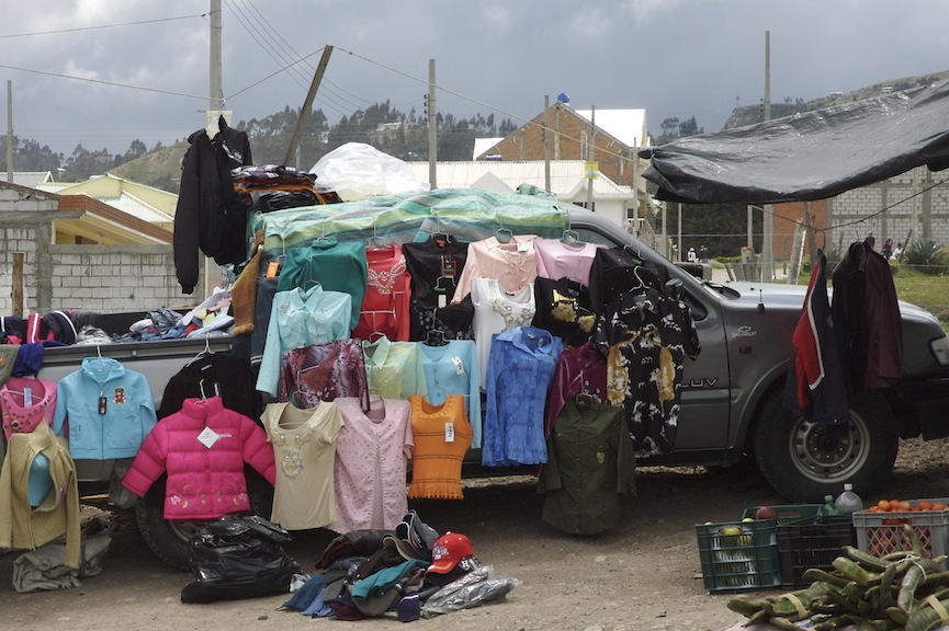 clothes on truck