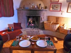 dinner w fire