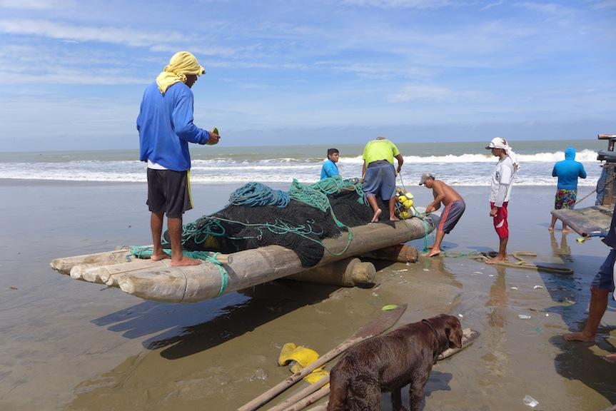 balsa raft launching