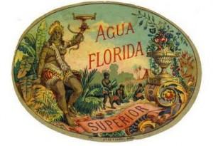 agua florida label
