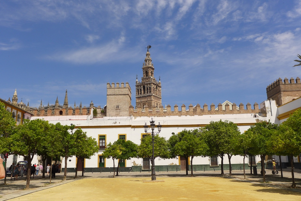 alcazar wall & cathedral tower